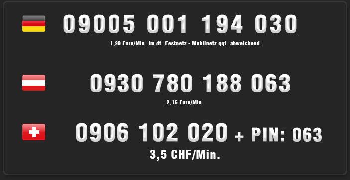 Heisser Teentelefonsex unter diesen Nummern für Österreich, Schweiz und Deutschland