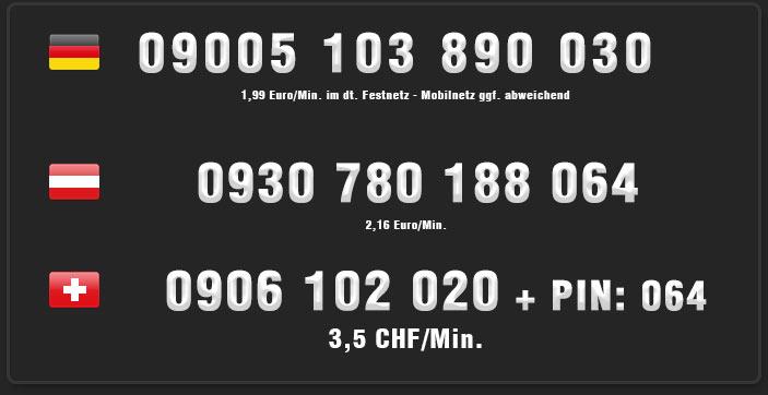 transen telefonsex für österreich und schweiz sowie deutschland